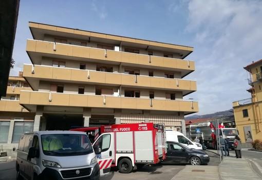 Incendio a Luserna San Giovanni 11 marzo 2021