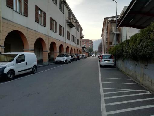 L'area retrostante il municipio, dove c'è la biblioteca