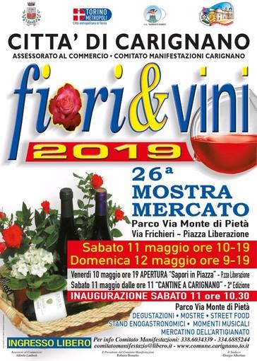 """Carignano, si avvicina la 26esima Mostra Mercato """"Fiori & Vini"""""""