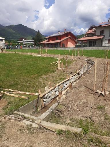 Il Parco in costruzione in via Masel a Luserna San Giovanni