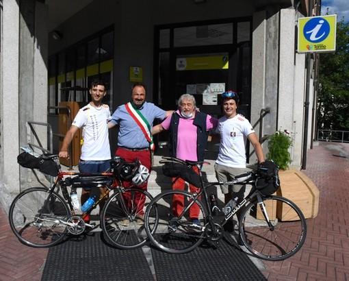Partita la cicloturistica benefica Bardonecchia-Otranto