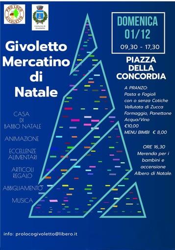 Domani a Givoletto primo appuntamento con il Mercatino di Natale