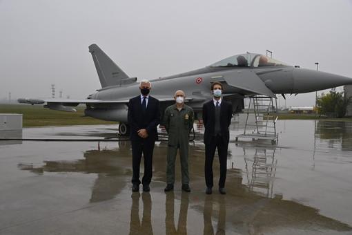 Leonardo: da Caselle il decollo del nuovo Eurofighter per le forze dell'Aeronautica militare