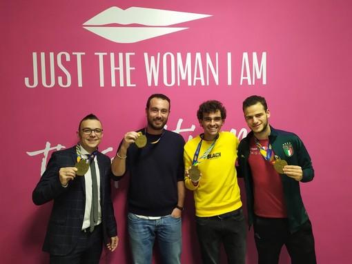 Da sinistra a destra: Fabio, Matteo, Gabriele, Christian