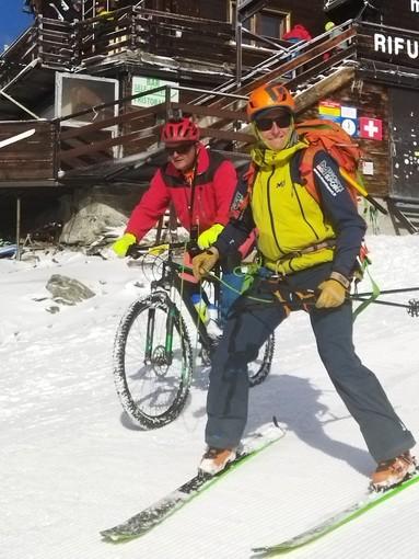 Mauro Casarone sulle nevi dell'impresa