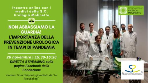 """Domani """"Non abbassiamo la guardia"""": incontro sulla prevenzione urologica in tempi di pandemia"""