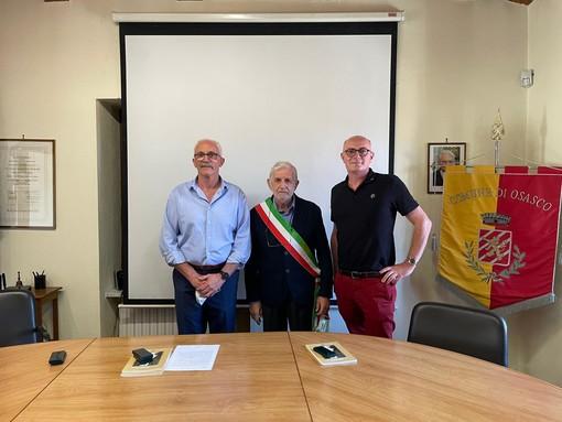 Da sinistra Ezio Bruno, Adriano Miglio e Julien Burel nella presentazione di ieri