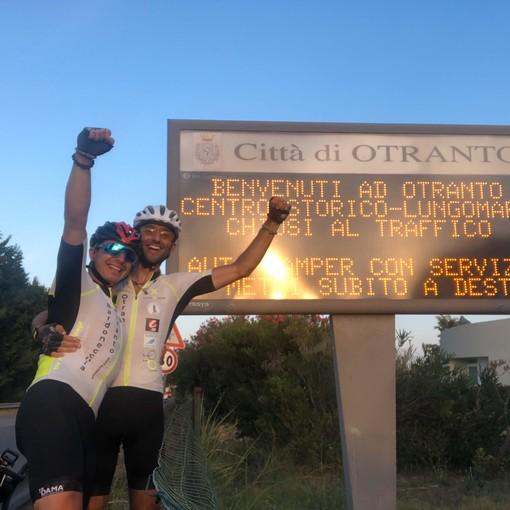 Si è conclusa la cicloturistica benefica Bardonecchia-Otranto