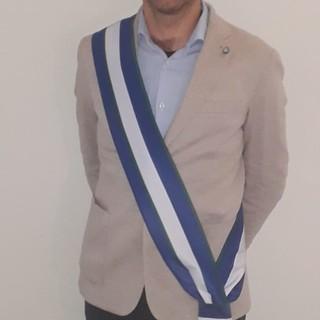 Il presidente Luigi Carignano con la nuova fascia