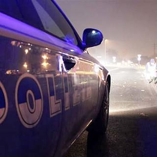 Auto polizia - immagine d'archivio