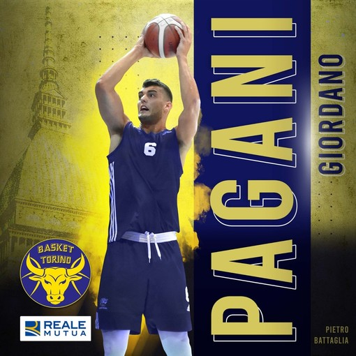 Sotto le plance della Reale Mutua Basket Torini arriva Giordano Pagani