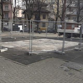 lavori in piazza Mattirolo