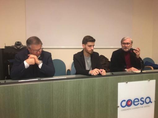 Da sinistra, Renato Zambon, Federico Depetris e Giorgio Merlo
