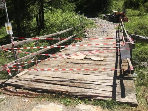 Pragelato chiude tre ponti in legno e continua le verifiche sul territorio