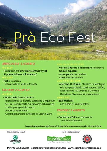 "Legambiente Val Pellice lancia la ""Prà Eco Fest"""
