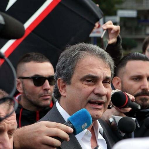 Il leader di Forza Nuova Fiore a Torino per protestare contro il club Bilderberg