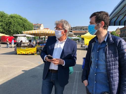 Il sindaco Claudio Castello con il dirigente Fabio Mascara