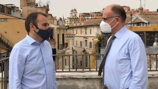 Stefano Lo Russo ed Enrico Letta