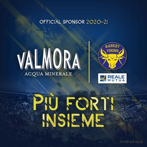 """Valmora """"Official Sponsor"""" della Reale Mutua Basket"""