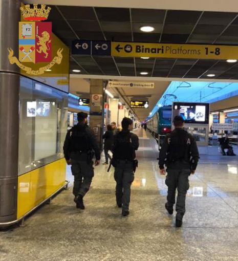 Porta Nuova, la Polizia ferma due ladri in stazione