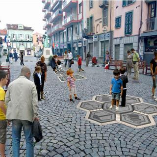 Una simulazione di come sarà piazza Carletti dopo gli interventi