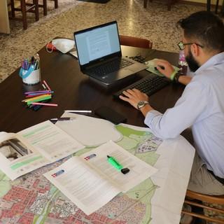 il sindaco di Alpignano Palmieri