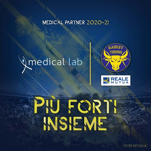 "Medical Lab ancora ""Medical Partner"" di Reale Mutua Basket Torino"