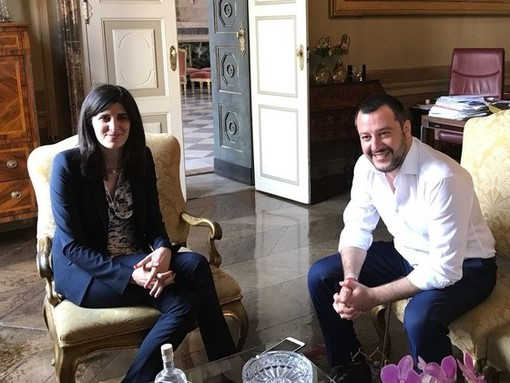 Chiara Appendino e Matteo Salvini