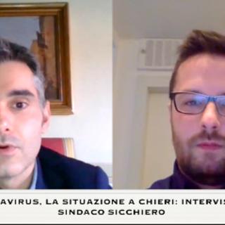 """Coronavirus a Chieri, il sindaco Sicchiero: """"State a casa, fatelo per le vostre famiglie e la comunità"""" [VIDEO]"""