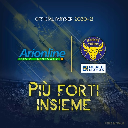 Arionline nuovo partner della Reale Mutua Basket Torino