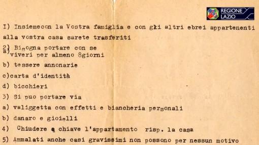 Screenshot documentario su deportazione ebrei Ghetto Roma 1943