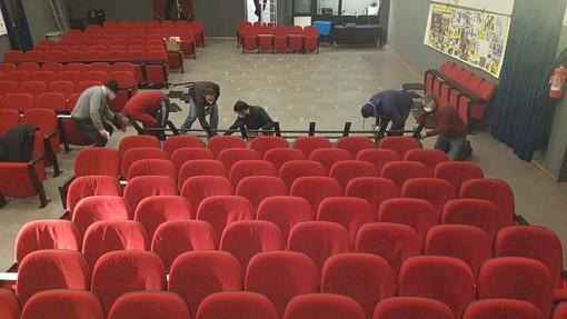 Teatro del Forte poltrone a rotelle