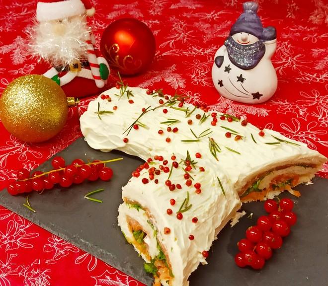 LA RICETTA - Tronchetto di Natale salato