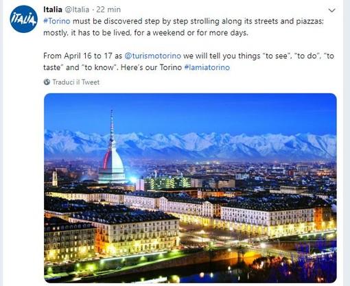 Domani e mercoledì Torino twittata da @Italia