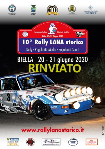 Rinviato il 10° Rally Lana Storico di Biella