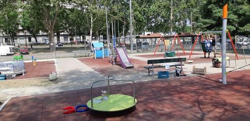 Piazza Sofia, riqualificata l'area gioco con i fondi AxTo