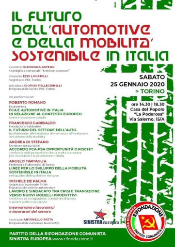 Incontro nazionale su automotive e mobilità sostenibile a Torino