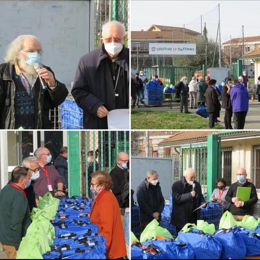 La donazione dei beni da parte dell'arcivescovo Cesare Nosiglia