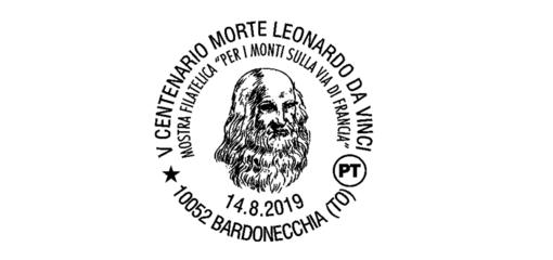 Bardonecchia, annullo filatelico speciale per i 500 anni dalla morte di Leonardo