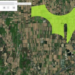l'area su cui potrebbe sorgere il Deposito Nazionale a caluso