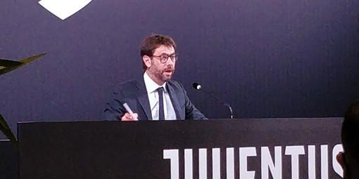"""Juventus, Agnelli: """"Covid? Ringraziamo il protocollo che, per ora, ci permette di portare avanti la nostra attività"""""""