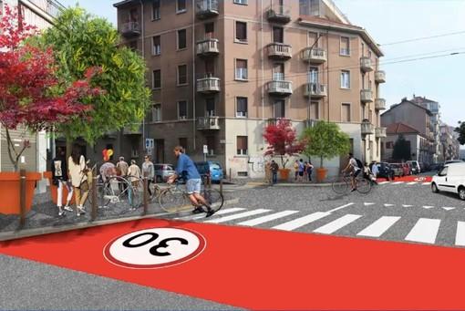 Rendering della nuova viabilità in Borgo Vittoria