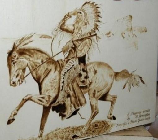 La pirografia arriva alla Circoscrizione 7: da domani in mostra le opere di Bruno Guala