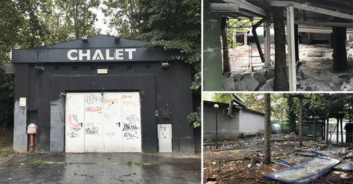 C'era una volta lo Chalet: immondizia e degrado nella discoteca del Valentino [FOTO]