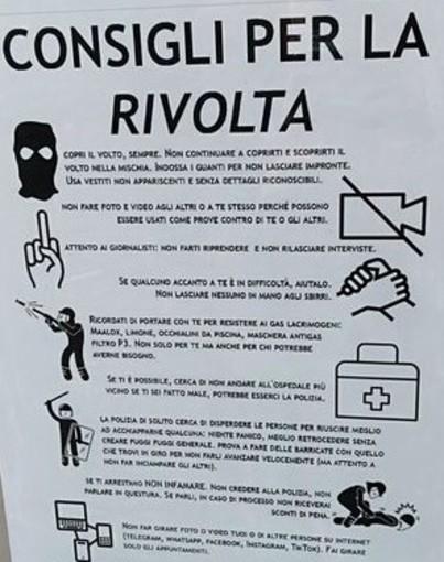 manifesto 'consigli per la rivolta'
