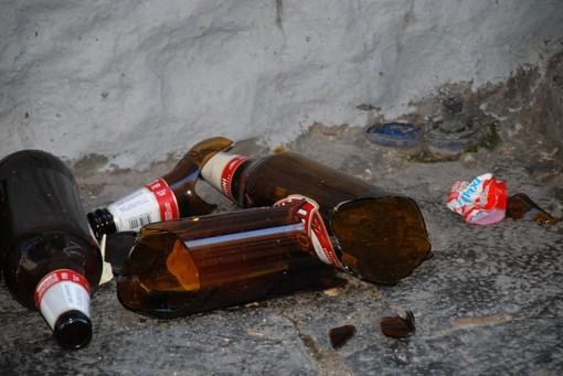 cocci di bottiglie- foto d'archivio