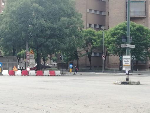 chiusura d'accesso al sottopassaggio del Lingotto di Torino