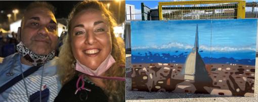 Al Parco Ruffini l'opera dedicata a Torino di Fabiana Macaluso e writer Chiuto [VIDEO]