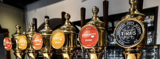 La scelta di birre artigianali è ampia nei locali di Dynameet