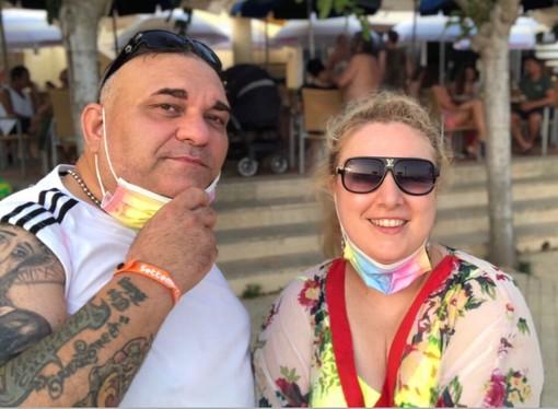 Fabiana Macaluso e Writer Chiuto